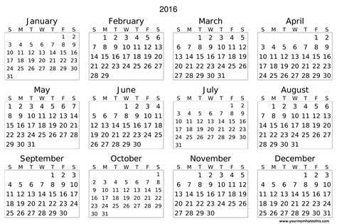 calendar samples