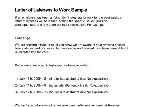 letter  lateness
