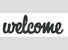WELCOME Word Decor
