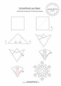 Schneeflocken Basteln Vorlagen : sechseckige schneeflocken aus papier anleitung handmade kultur ~ Frokenaadalensverden.com Haus und Dekorationen