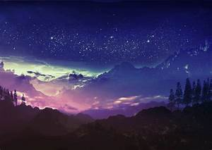 Night, Blue, Mountain, Wallpapers, Hd, Desktop, And, Mobile, Backgrounds