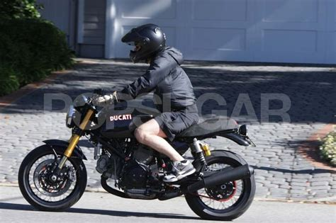 Pictures Of Orlando Bloom Riding His Motorcycle In La