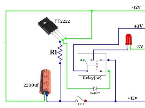 Power Off Time Delay Relay Circuit Youtube
