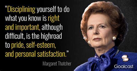 margaret thatcher quote  discipline goalcast