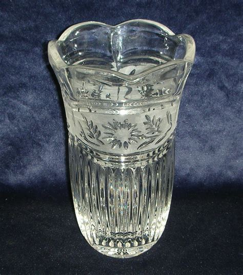lead vases antique vintage lead fluted vase and clear glass 6872