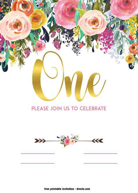 printable st birthday invitation vintage style