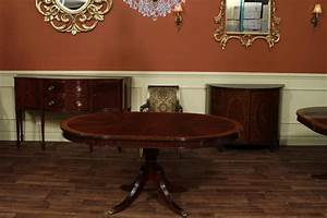 round mahogany dining table with leaf four leg reeded With round dining room tables with leaf