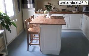 Plan De Travail Ilot : plan de travail ilot cuisine galeries photos notre ~ Premium-room.com Idées de Décoration