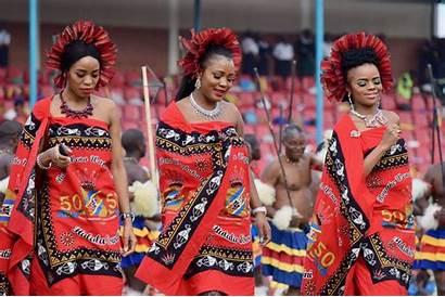Traditional Dance King Woman Swaziland Eswatini Culture