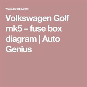 Volkswagen Golf Mk5  U2013 Fuse Box Diagram