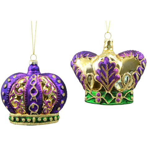 Mercury Glass Crown Ornaments (Set of 2) [HG1017 ...