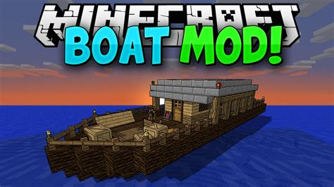 Minecraft Boat And Chest by Minecraft Mods More Boats Pirate Ships Mod
