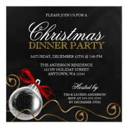 christmas ornament red bow dinner party 5 25x5 25 square paper invitation card zazzle