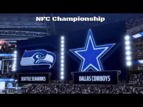 madden  nfc championship dallas cowboys  seattle