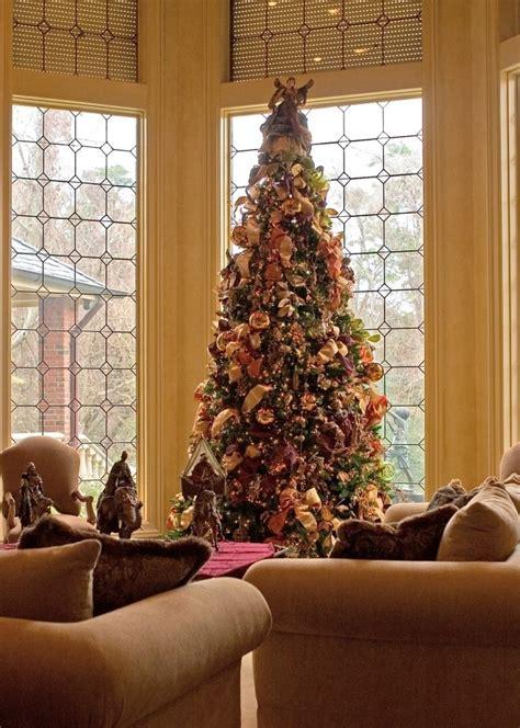 ribbon garland christmas tree christmas tree ideas