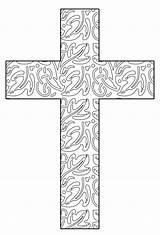 Coloring Pages Printable Cross Crosses Adult Abstract Glass Easter Colouring Print Sheets Leaves Christian Stained Books Drawings Ausmalen Hubpages Templates sketch template