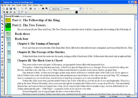 outline 4d software creative writing outlining software