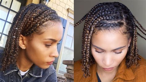 mini braids easy protective style  natural hair youtube