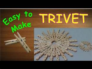 How to Make Clothespin Coaster DIY Crafts Projects Ideas