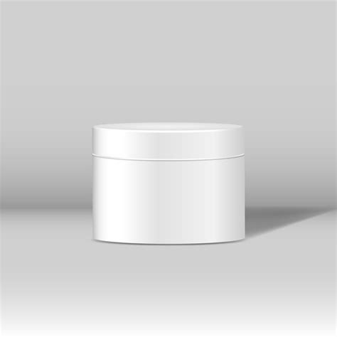 Subscribe to get our premium mockup absolutely free. Free Vector | Minimal white cosmetic jar mockup