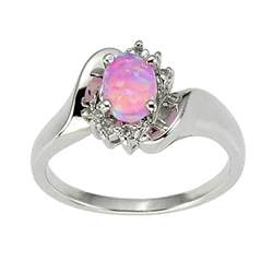 womens engagement rings 925 sterling silver synthetic pink opal 39 s engagement wedding ring ebay