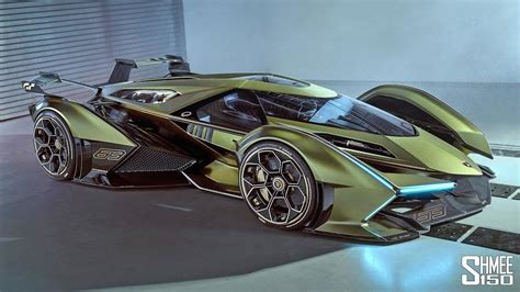 reaction    lamborghini  vision gt
