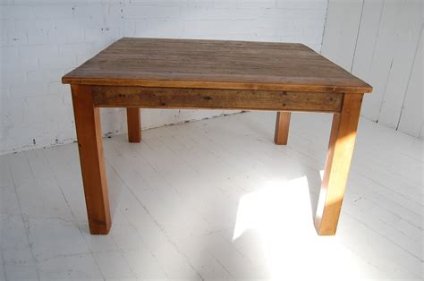 wooden kitchen table large square wooden table handmade kitchen table