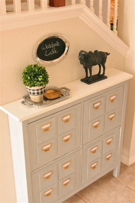 hemnes shoe cabinet turn a hemnes shoe cabinet 129 99 into a faux library