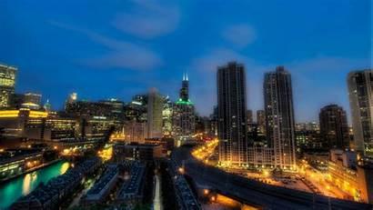 Chicago 4k Hdr Night Illinois Lights Background