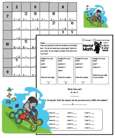 worksheets  math printables youd