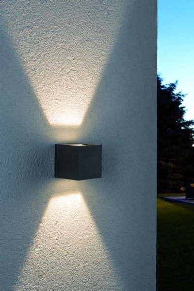 Farbe Die Im Dunkeln Leuchtet Für Aussen by Paulmannn Wandaufbauleuchte Led Cybo Eckig 2 X 3w 80 X 80