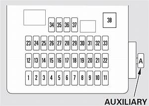 Honda Cr-v  2010 - 2011  - Fuse Box Diagram