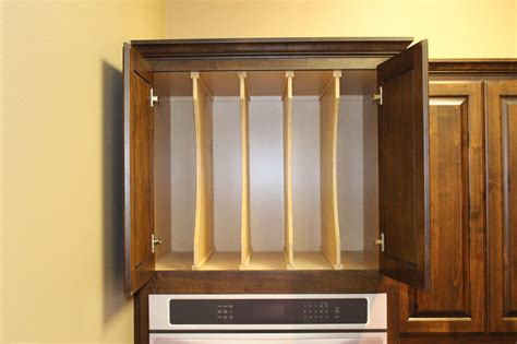 kitchen cabinet divider rack cutlery plate and cookie sheet dividers archives burrows 5259