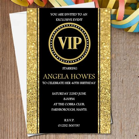Ideas: Premium Design Of 40th Birthday Invitations