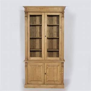 prix des vaisselier 5 With delightful meubles en pin massif cire 7 bibliothaque vitree en pin massif 1 porte