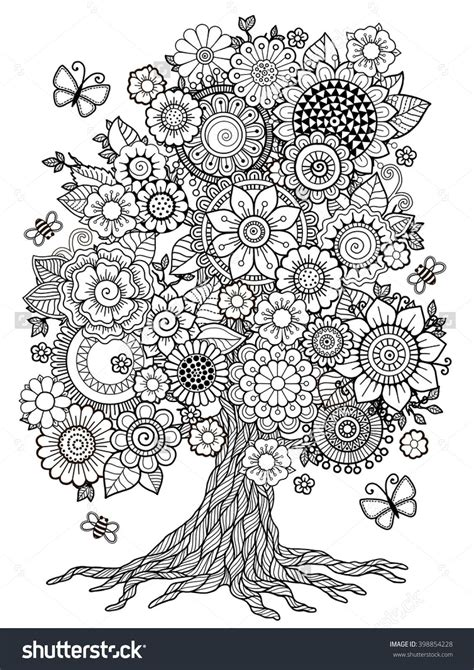 doodle coloring book blossom tree coloring book for doodles for