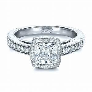custom hand engraved engagement ring 1413 With custom engraved wedding rings