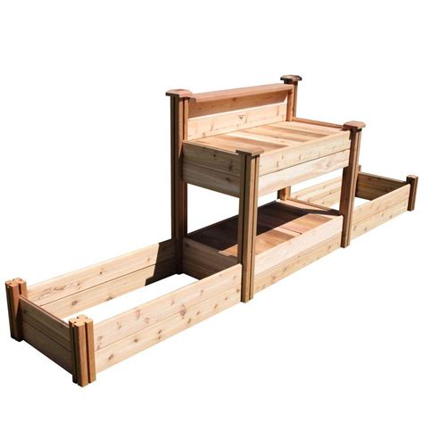 home depot garden table gronomics 24 in x 144 in x 48 in tool free assembly