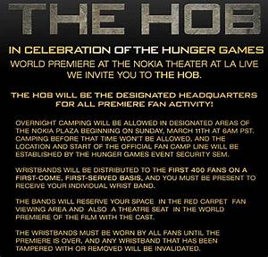 Camp at The Hob for 'Hunger Games' Premiere, Mall Tour ...
