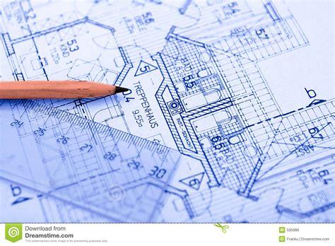 drafting tools pencil on blueprint royalty free stock image image 595986