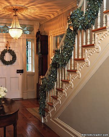garland for stairs christmas the chicer antiquer garland on the staircase