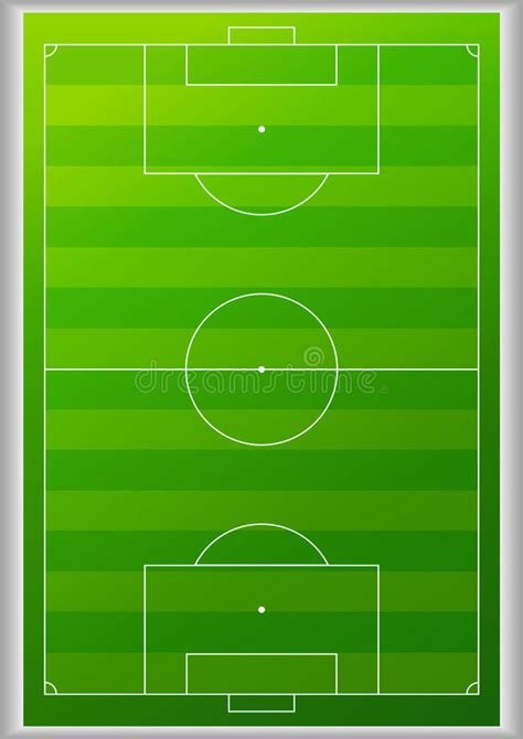 top view football field background stock vector image