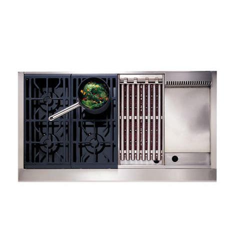 zgulgdss ge monogram  professional gas cooktop   burners grill  griddle