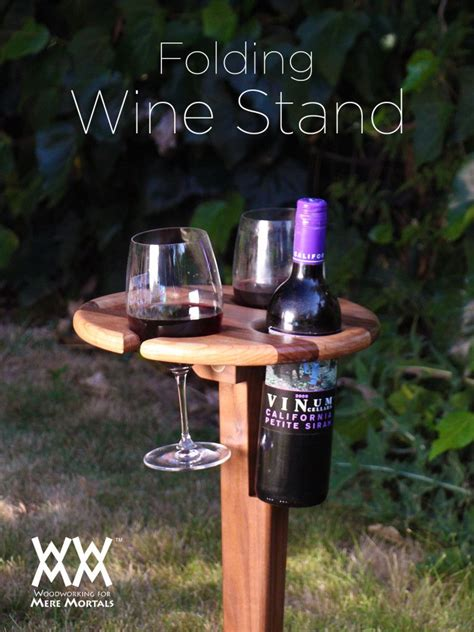 folding wine stand great  summertime picnics  fireworks  plans  tutorial easy