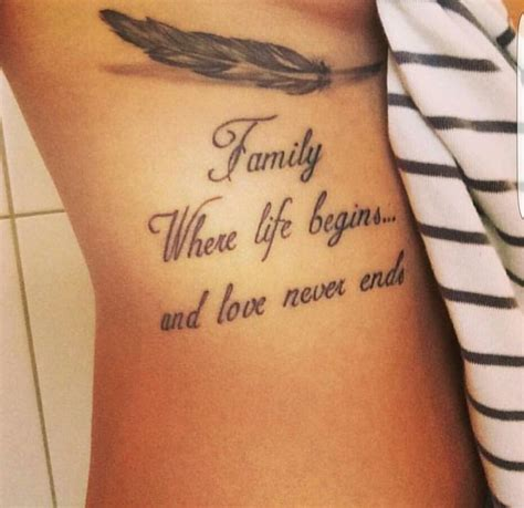 family  life begins  love  ends tattoos