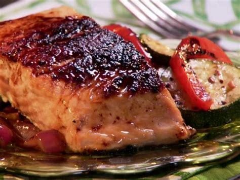 maple  mustard glazed salmon recipe paula deen food
