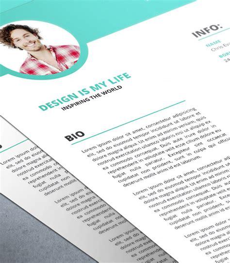 modern resume cv with cover letter