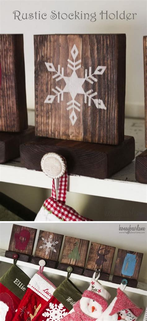 diy stocking holders  christmas decoration hative
