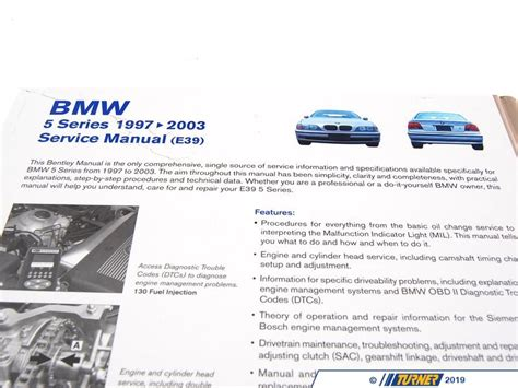 car manuals free online 2002 bmw 745 electronic toll collection b503 bentley service repair manual e39 bmw 5 series 1997 2003 turner motorsport