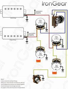 Wiring Diagram 2 Humbucker 2 Volume 1 Tone  U2013 The Wiring Diagram  U2013 Readingrat Net